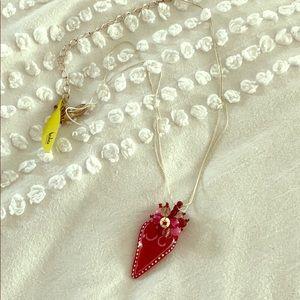Orna Lalo Heart Long Necklace Pendant new!